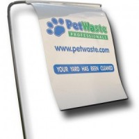 pet waste removal flag